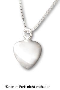 Asche Anhänger Herz Silber