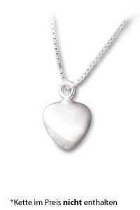 Asche Schmuck Herz klein Silber