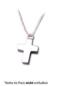 Asche Schmuck Kreuz klein Silber