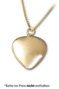 Ascheschmuck Herz vergoldet