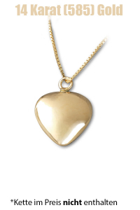 Am-Urn-Let Herz Amulett für Asche Gold