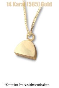 Am-Urn-Let Halbkreis Amulett für Asche Gold