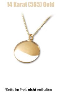 Am-Urn-Let Kreis Amulett für Asche Gold
