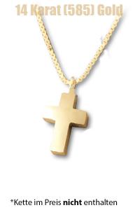 Am-Urn-Let Kreuz Amulett für Asche Gold