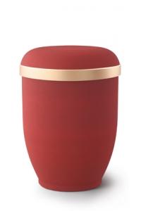 Urnen online Shop Auswahl: Naturstoffurne Samtton Rubin, Goldrand antikgold