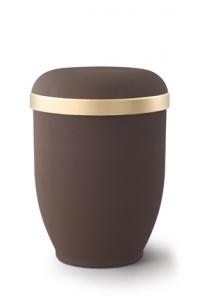 Urnen online Shop Auswahl: Naturstoffurne Samtton Café, Goldrand antikgold