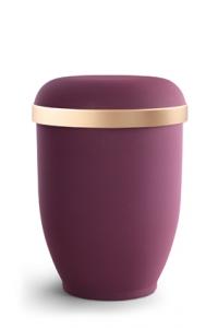 Urnen online Shop Auswahl: Naturstoffurne Samtton Burgund, Goldrand antikgold