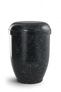 Urnen online Shop Auswahl: Naturstoffurne spritzpatiniert, ohne Motiv