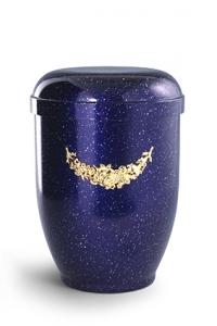 Urnen online Shop Auswahl: Naturstoffurne blau - perlmutt, Girlande