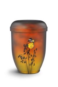 Urnen online Shop Auswahl: Naturstoffurne Airbrush-Motiv Schmetterling