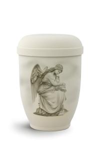 Urnen online Shop Auswahl: Urne Airbrush-Motiv trauernder Engel