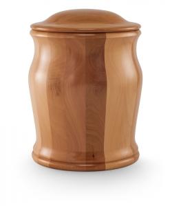 Urne aus Holz: Birnbaum Natur