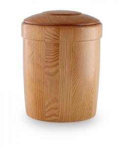 Pinienholz-Urne Beizung honigfarbig