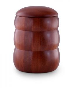 Mahagoni Urne Bienenkorb-Form