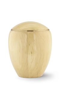 Urne aus Holz Erle-Natur