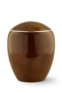 Urne aus Holz: Urne Erle-Teakholz