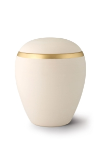 Keramikurne Samtton Creme Dekor antikgold