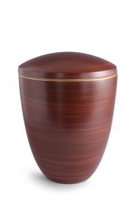 Keramikurne Kastanienbraun von Hand bemalt