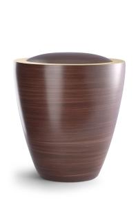 Keramikurne Oberfläche von Hand bemalt mattierte Goldkante