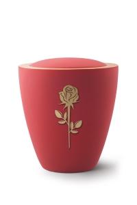 Keramikurne Samtton Rubin, mit mattierter Rose