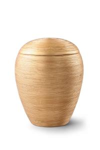 Keramikurne von Hand strukturiert, Altgolden belegt