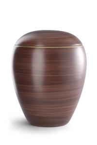 Keramikurne von Hand bemalt