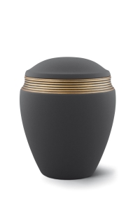 Keramikurne Samtton Graphit, Dekor antikgold