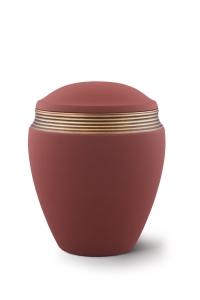 Keramikurne Samtton Rotbraun, Dekor antikgold