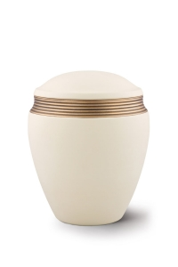 Keramikurne Samtton Creme, Dekor antikgold