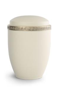 Stahlurne Samton Creme, Mäander-Dekor antikgold