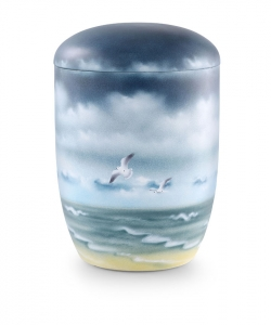 Urnen online Shop Auswahl: Urne für Seebestattung Tonolith Thalassa aus der Edition Poesie