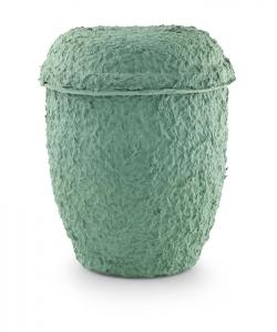 Urnen online Shop Auswahl: Urne für Seebestattung aus Zellulose meergrün