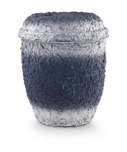Urnen online Shop Auswahl: Urne für Seebestattung aus Zellulose blau-silber getönt, ohne Emblem
