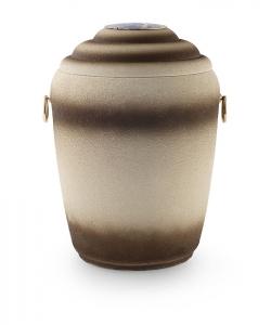 Urnen online Shop Auswahl: Urne für Seebestattung aus Tonolith eingefärbt mit Emblem