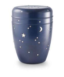 Urnen online Shop Auswahl: Urne für Seebestattung aus Tonolith goldener Sternenhimmel