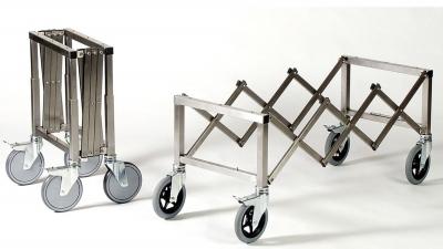 Scherenwagen aus Edelstahl