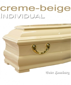 Sarg in creme-beige, Farbwunsch CREME-BEIGE glänzend