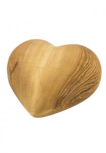 Holzurne großes Herz, Eschenholz geölt