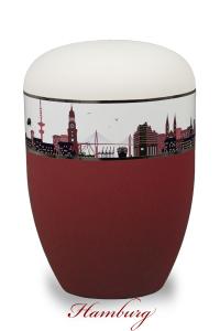 Bio-Urne Hamburg mit Silhouette