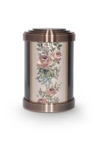 Bronzeguss Urne mit Blumenmuster-Gobelin