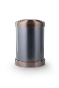 Bronzeguss Urne zylindrisch