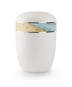 Urnen online Shop Auswahl: Urne für Seebestattung Spuren im Sand