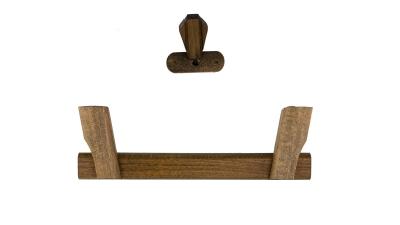 Sarggriffe klappbar aus Holz Farbe rustikal