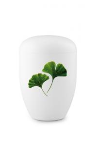 Urnen online Shop Auswahl: Weiße Biourne Ying-Yang