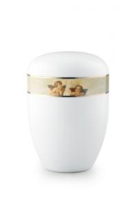 Urnen online Shop Auswahl: Urne weiß Engelspaar 360 Grad Motiv