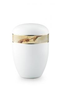 Urnen online Shop Auswahl: Urne weiß Michelangelo 360 Grad Fotomotiv