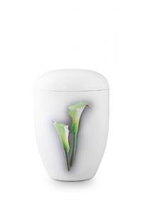 Urnen online Shop Auswahl: Weiße Urne Klavierlack Calla