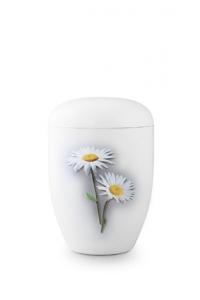 Urnen online Shop Auswahl: Weiße Urne Klavierlack Margerite