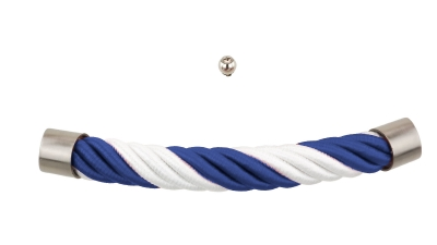 Sarg-Fan-Beschlag blau weiß