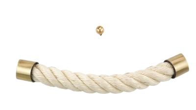 Sargbeschlag helles Seil